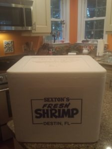 Box of shrimp
