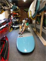Image of Valya and Bella on a paddleboard